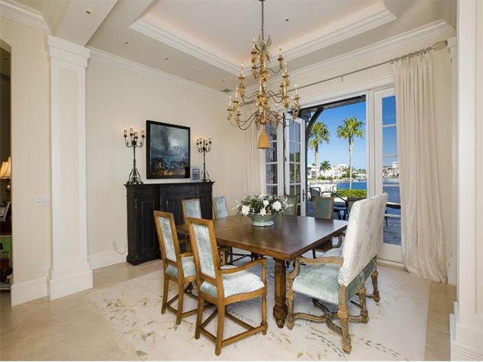 $5.1 Million Elegant European Mansion in Naples, Florida - Dining Room