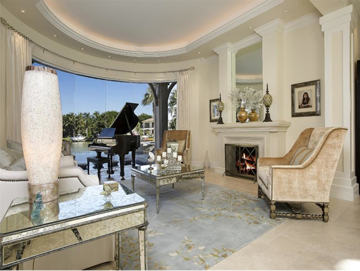 $5.1 Million Elegant European Mansion in Naples, Florida - Formal Sitting Room