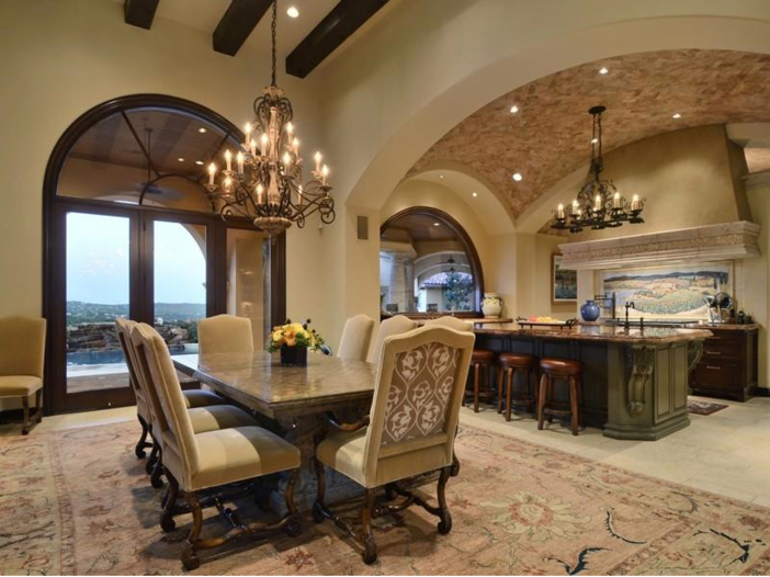 $5.3 Million Tuscan Mansion in Austin, Texas - Chandeliers