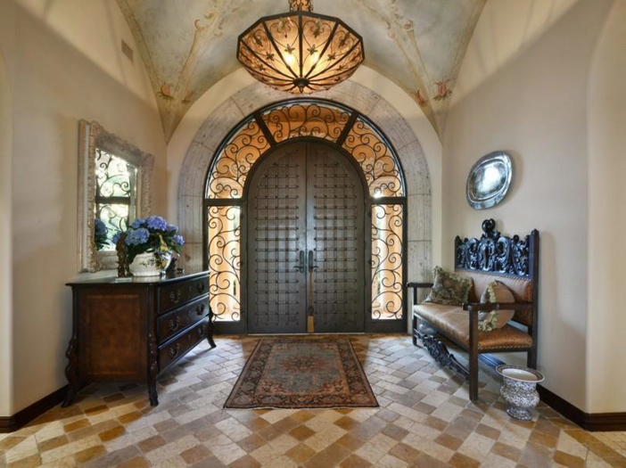 $5.3 Million Tuscan Mansion in Austin, Texas - Elaborate Front Door