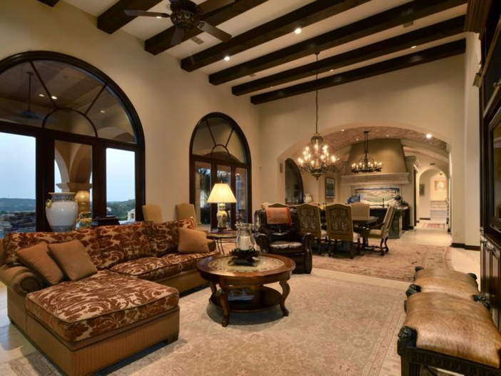 $5.3 Million Tuscan Mansion in Austin, Texas - Open Living Areas