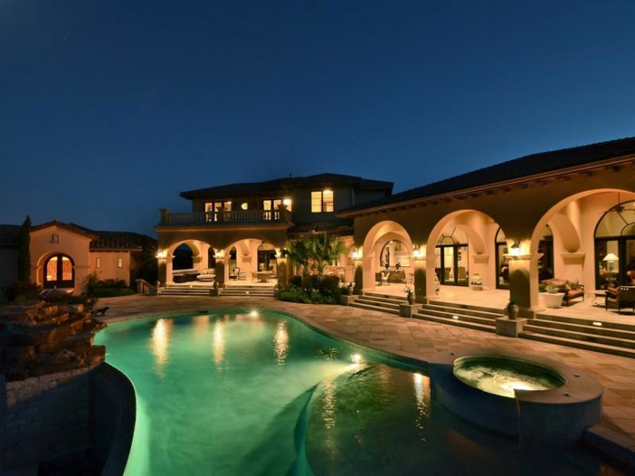 $5.3 Million Tuscan Mansion in Austin, Texas - Outside at Night