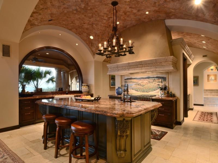$5.3 Million Tuscan Mansion in Austin, Texas - Stunning Gourmet Kitchen