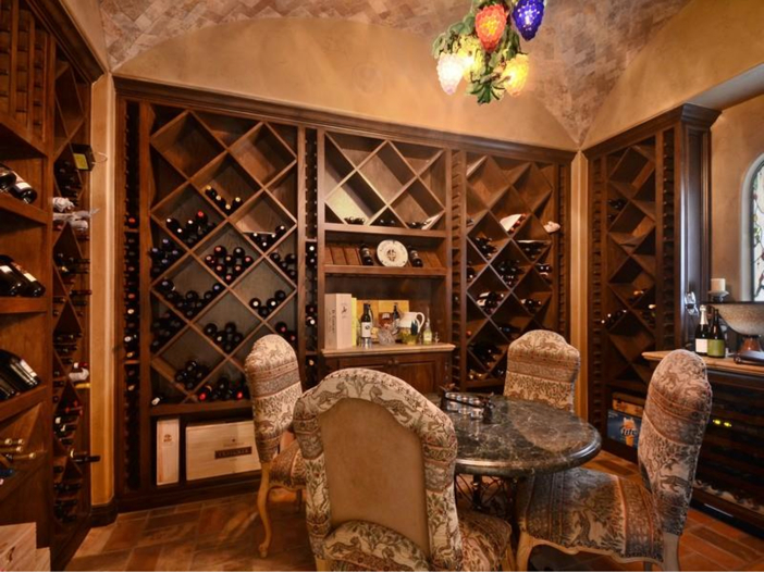 $5.3 Million Tuscan Mansion in Austin, Texas - Wine Room