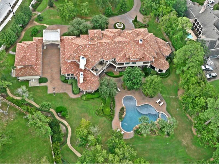 $5.7 Million Magnificent Gated Estate in Houston, Texas - Aerial View