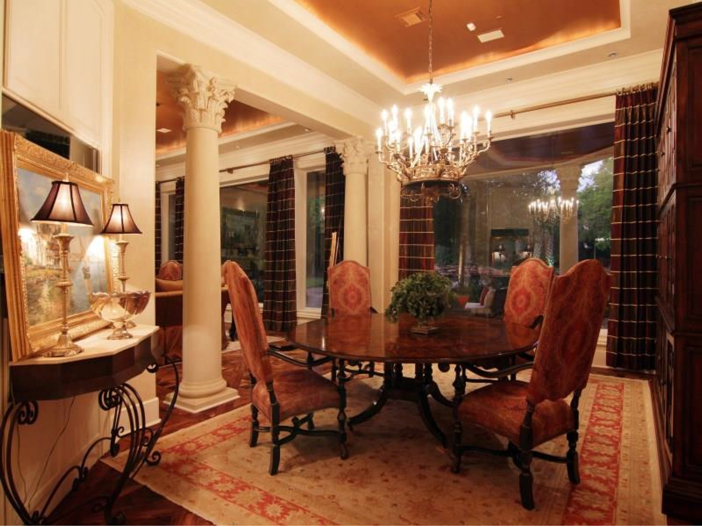 $5.7 Million Magnificent Gated Estate in Houston, Texas - Formal Dining Room with Columns