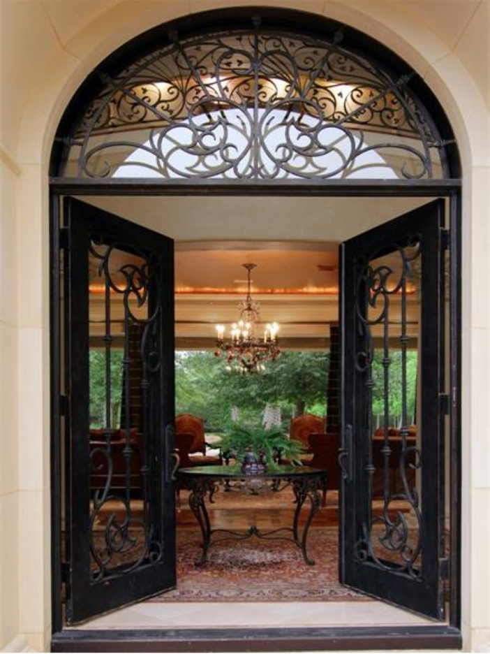 $5.7 Million Magnificent Gated Estate in Houston, Texas - Front Door