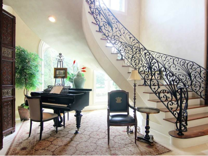 $5.7 Million Magnificent Gated Estate in Houston, Texas - Stunning Staircase