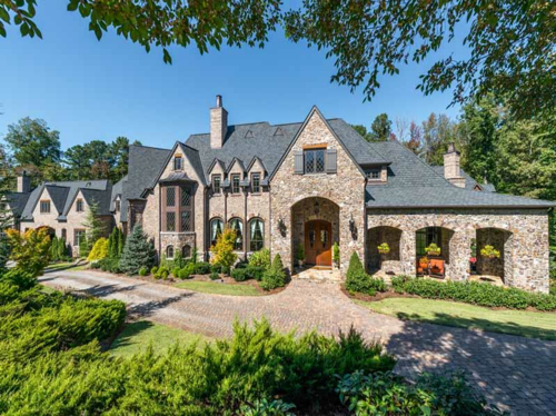 estate of the day 5 9 million custom stone manor in georgia