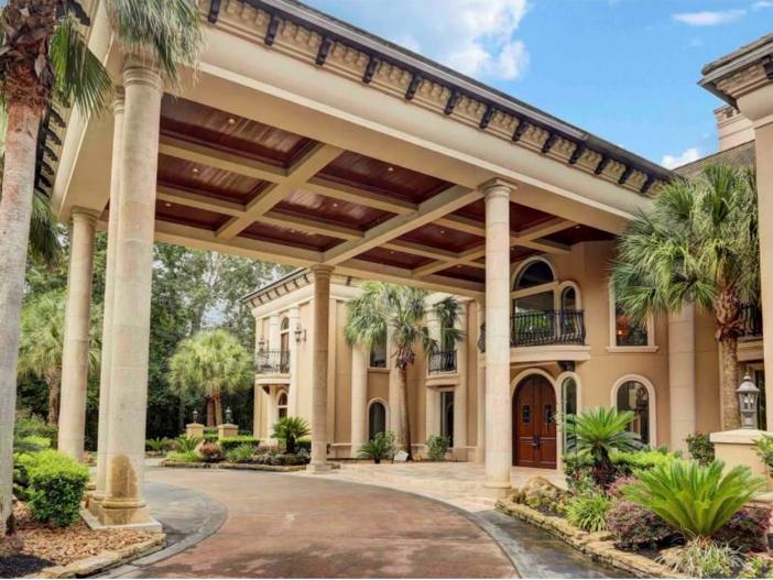 $7.5 Million Mediterranean Mansion in Houston, Texas - Stunning Portico