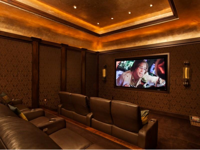 $9.9 Million Italian Villa La Isla in Texas - Home Theater