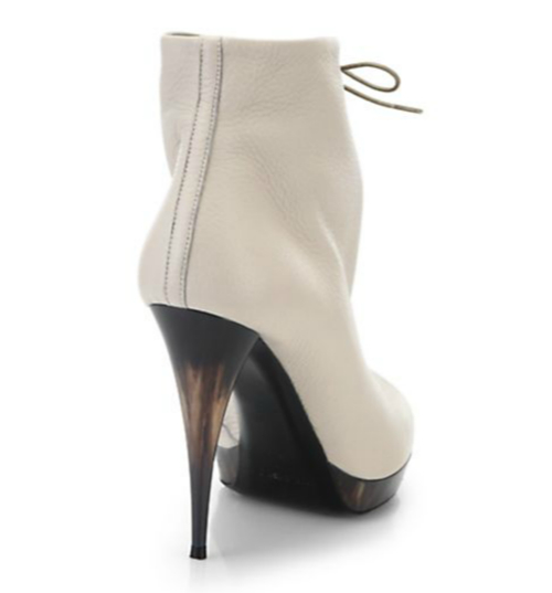 Burberry Jenkin Heritage Leather Open-Toe Ankle Boots 2