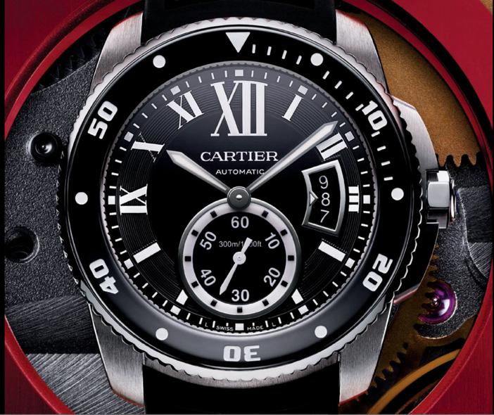 Calibre de Cartier Diver - Close Up