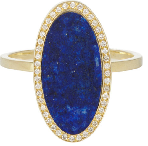 Jennifer Meyer Diamond & Lapis Ring