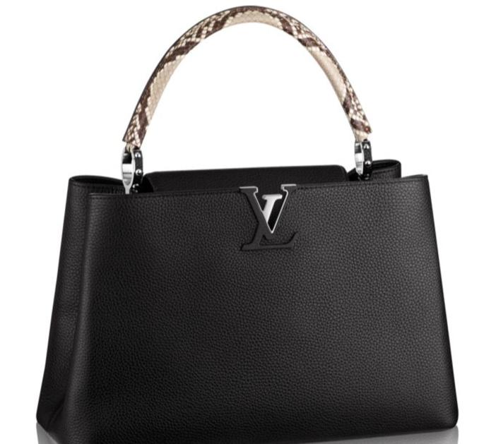 Louis Vuitton Python Capucines MM