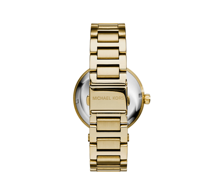 Michael Kors Skylar Green And Gold-Tone Stainless Steel Bracelet Watch Back View