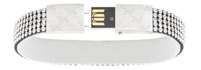 Swarovski Vilja USB Crystal Bracelet - Open View