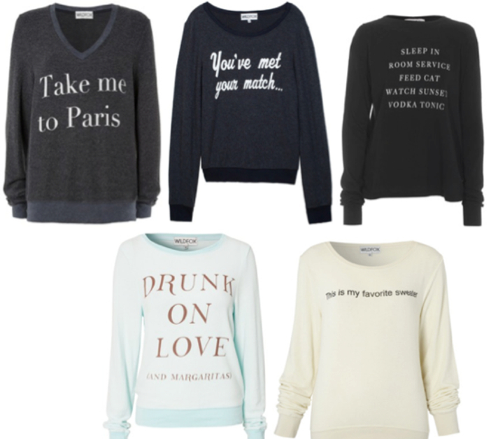Sweaters With Text - What's Hot Now