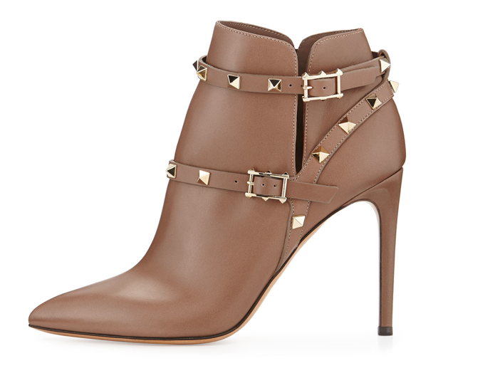 Valentino Strappy Rockstud Ankle Boot 2