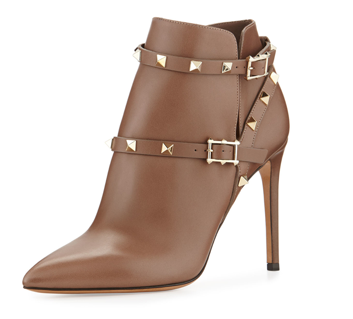 Valentino Strappy Rockstud Ankle Boot