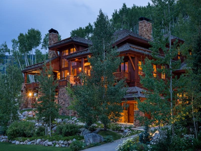 $10.9 Million Luxury Log Home in Beaver Creek, Colorado - Exterior