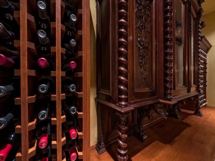 $10.9 Million Luxury Log Home in Beaver Creek, Colorado - Ornate Wine Room