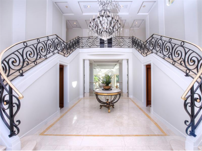 $15 Million Gated Private Mansion in Tiburon, California - Double Staircase