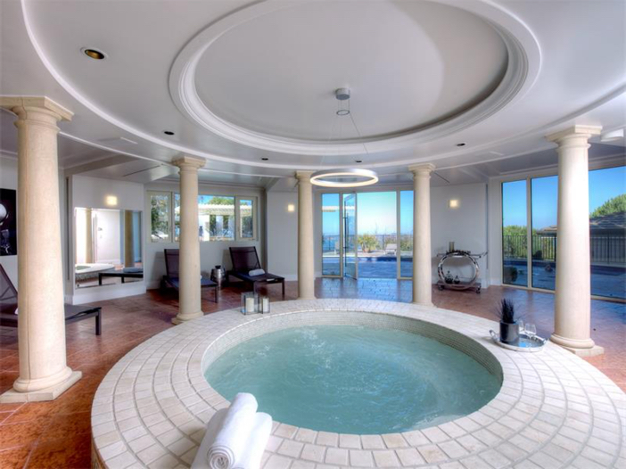 $15 Million Gated Private Mansion in Tiburon, California - Indoor Spa for Relaxation