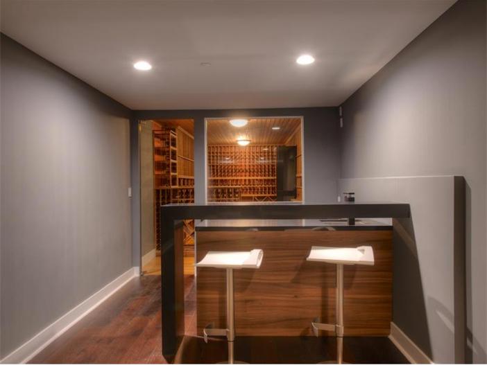 $15 Million Gated Private Mansion in Tiburon, California - Wine Cellar with Tasting Area