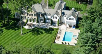 $16.2 Million Stone Georgian Manor in Greenwich, Connecticut - Aerial View