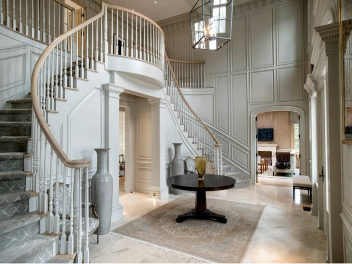 Estate of the day 16 2 million stone georgian manor in for Georgian staircase design