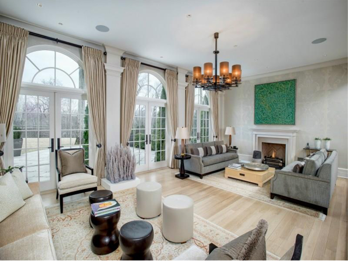 $16.2 Million Stone Georgian Manor in Greenwich, Connecticut - Sitting Room