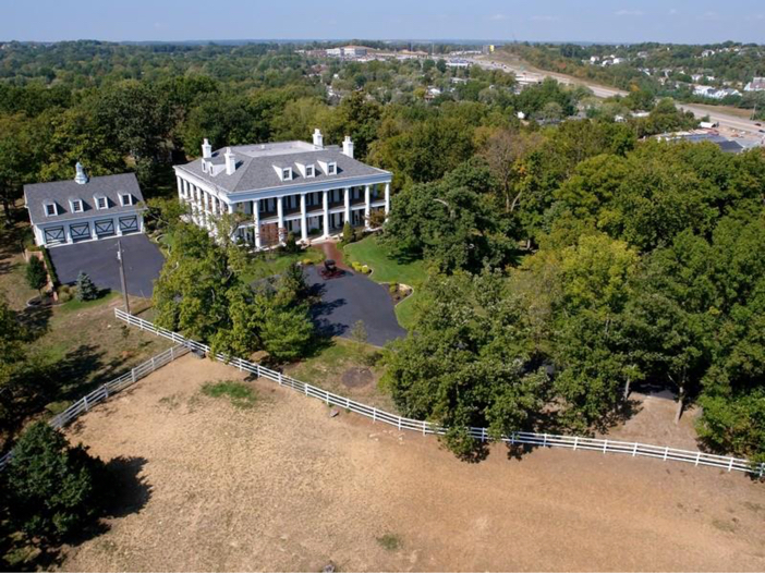 $2.9 Million Greek Revival Mansion in St. Louis, Missouri - Aerial View