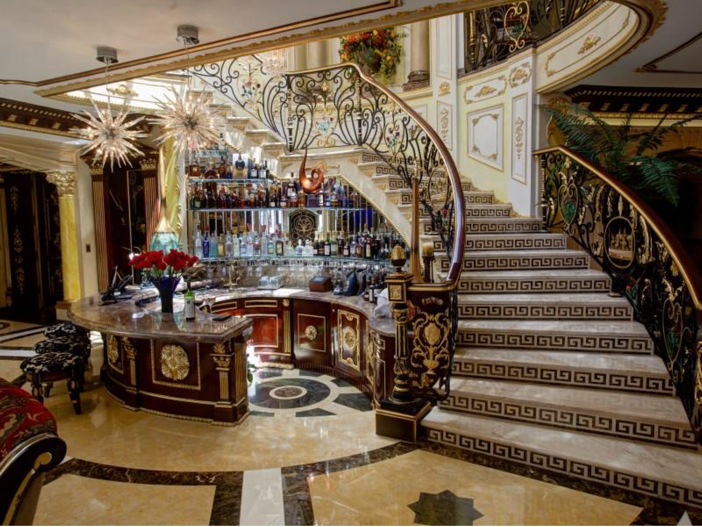$38.8 Million Stunning Mansion in Los Angeles, California - Home Bar for Entertaining