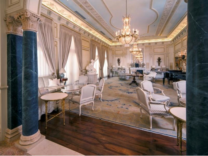 $43 Million Neoclassical Mansion in Houston, Texas - Elaborate Sitting Room