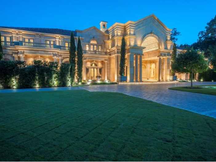 $43 Million Neoclassical Mansion in Houston, Texas - Front Exterior