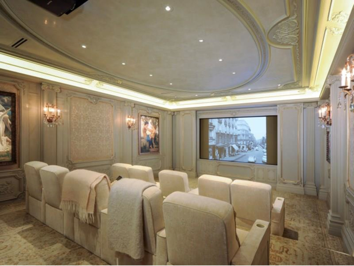 $43 Million Neoclassical Mansion in Houston, Texas - Home Theater