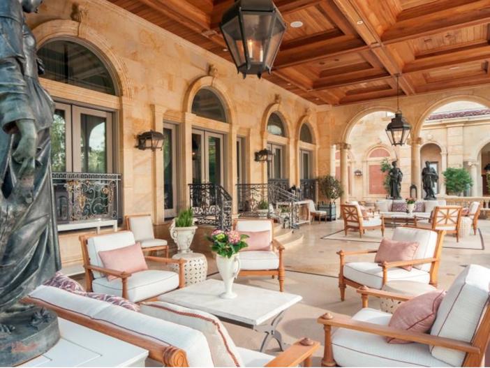 $43 Million Neoclassical Mansion in Houston, Texas - Loggia