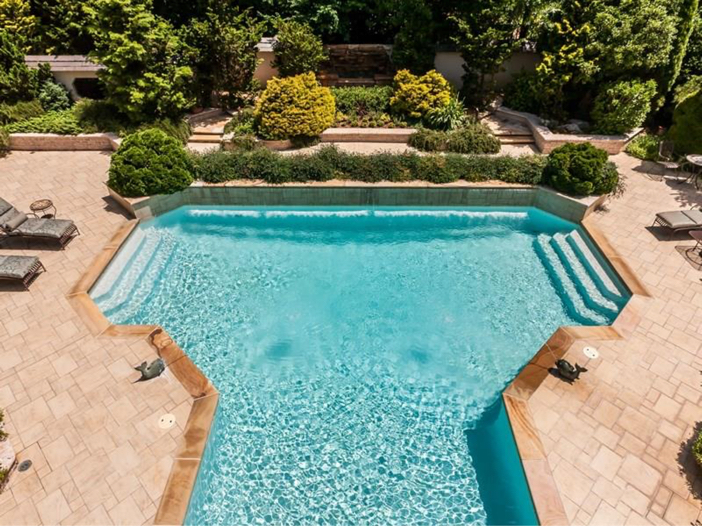 $7.8 Million Luxurious Estate in Raleigh, North Carolina - Gorgeous Pool with Water Feature