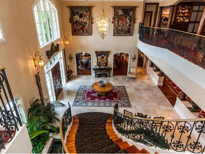 $7.8 Million Luxurious Estate in Raleigh, North Carolina - View From Staircase
