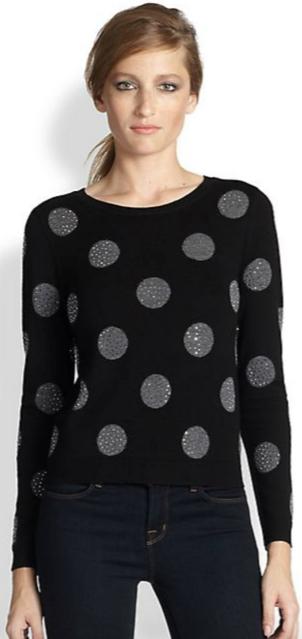 Alice and Olivia Polka Dot Sweater