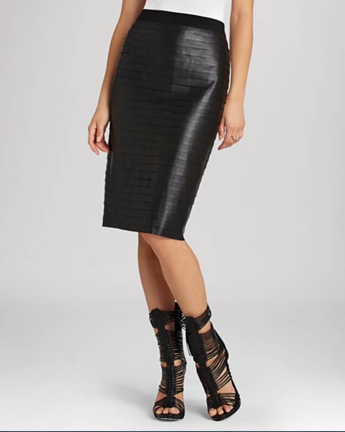 BCBGMAXAZRIA Faith Faux Leather Pencil Skirt
