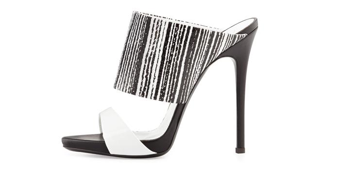 Giuseppe Zanotti  Snake-Print High-Heel Slide Sandal - Side View