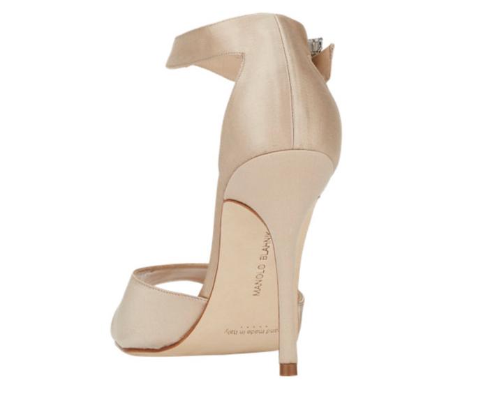 Manolo Blahnik Jeweled-Buckle Dribbin Sandals - Back View