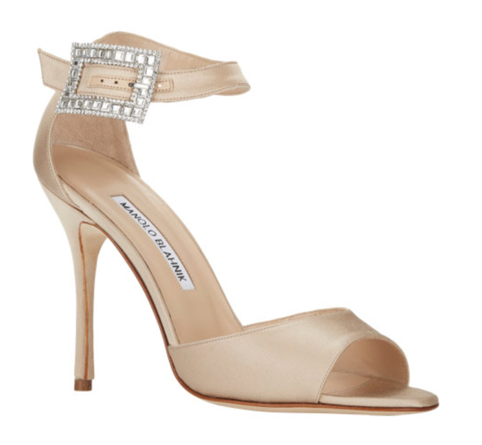 Manolo Blahnik Jeweled-Buckle Dribbin Sandals