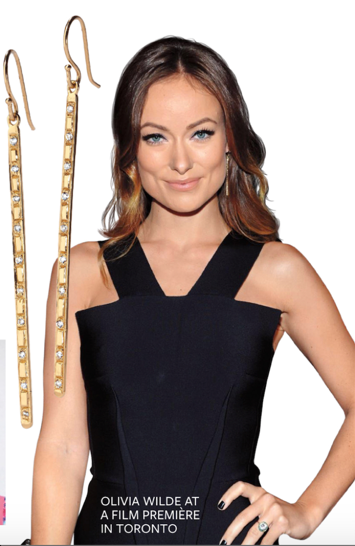 Matchstick Earrings on Olivia Wilde