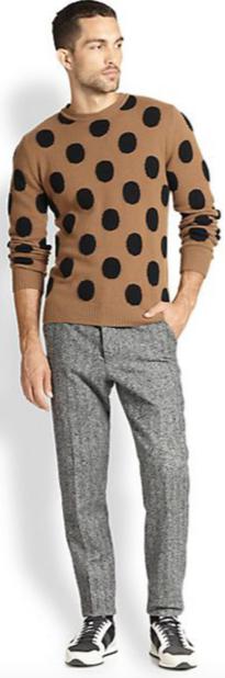 Men's Polka Dot Sweater
