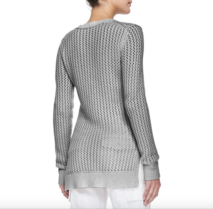 Michael Kors Zigzag Crewneck Cotton-Cashmere Sweater 2