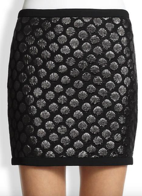 Moschino Cheap And Chic Polka Dot Cloqué Skirt