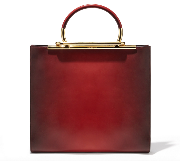 Salvatore Ferragamo Oxblood Handbag